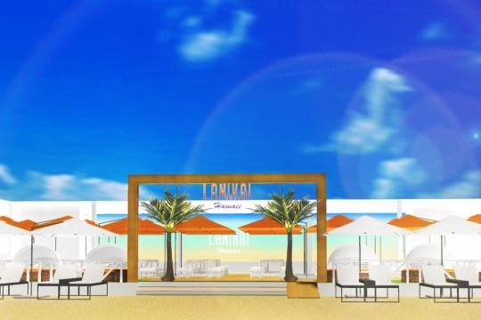 須磨ビーチにハワイがやってくる!?海の家Lanikai Hawaiiがオープン!