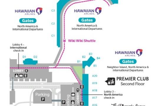 ハワイアン航空 チェックインカウンター移転