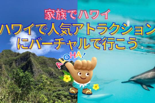 【家族でハワイ】家族連れに大人気!ハワイのアトラクション施設にバーチャルで行ってみよう!