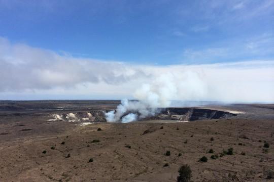 最近のキラウエア火山を見てきました!