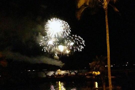 新年は花火でお祝い