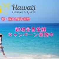 ハワイカメラガールズ設立1周年記念 新規登録キャンペーン