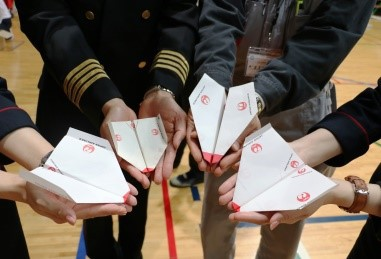 JAL折り紙ヒコーキ教室