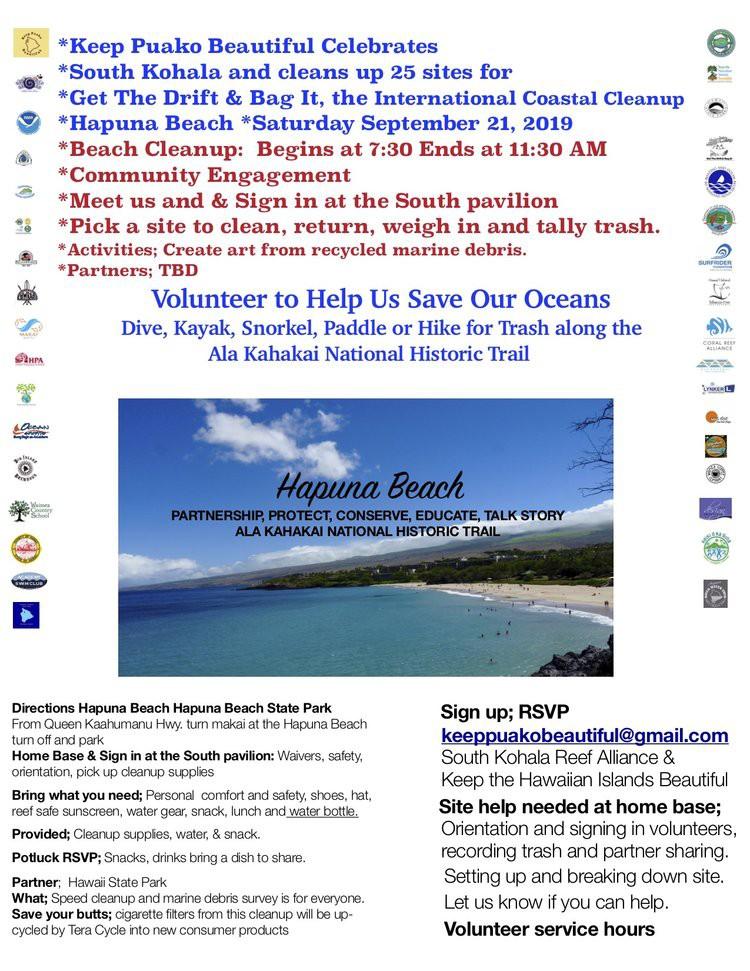 International Coastal Cleanup Day - Hapuna beach