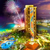 ヒルトン・ハワイアン・ビレッジ・ワイキキ・ビーチの花火ショー