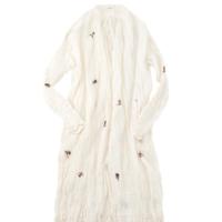 タッサ―シルクカディの手刺繍ドレス
