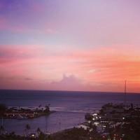 ハワイのパワフルな夕焼け&サンセット