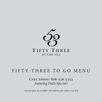 53 By The Seaのテイクアウト & デリバリーメニュー